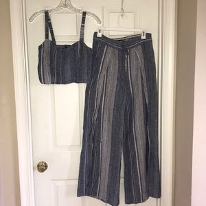 Express Wide Leg Pant and Croptop outfit